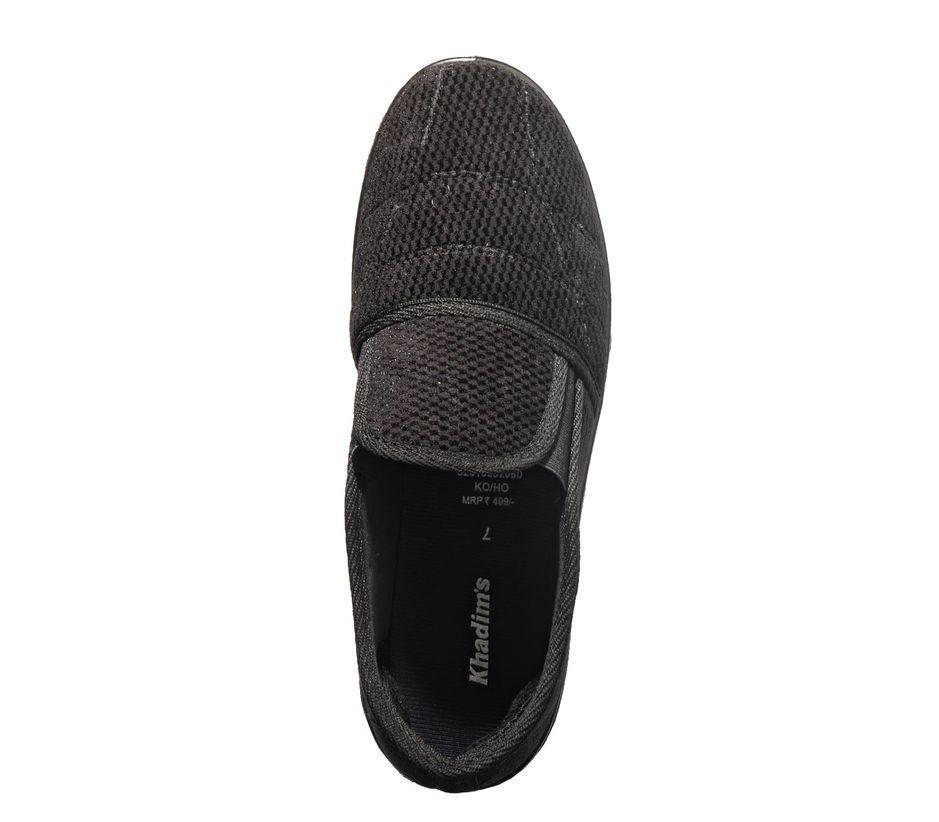 Khadim's Black Casual Slip-On Sneakers