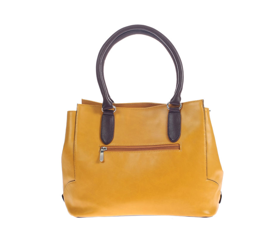 Khadim's Yellow Tote Handbag