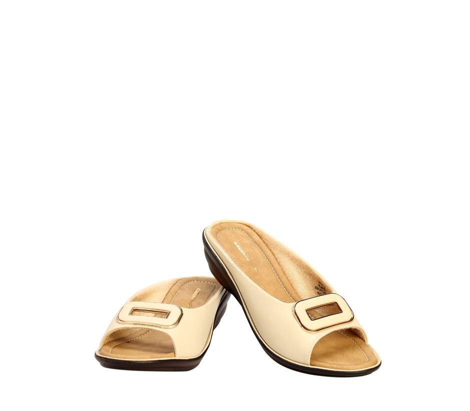 Khadim's Beige Casual Mule Sandal