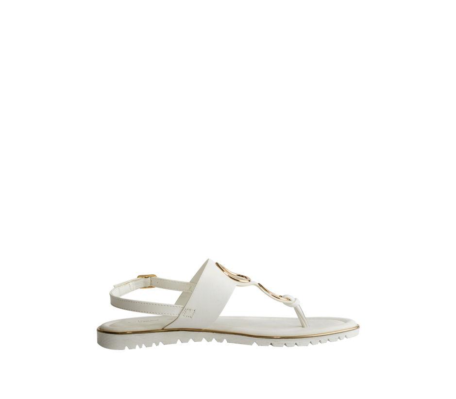 Khadim's Cleo Women White Casual Flat Sandal