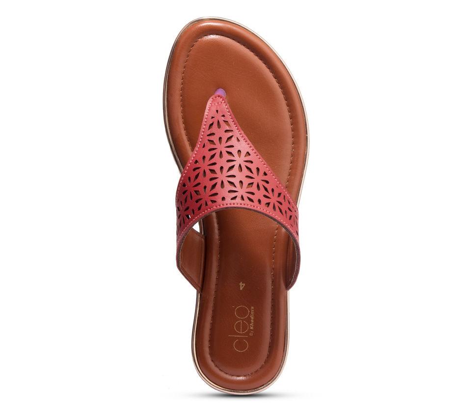 Cleo Cherry Casual Flat Sandal