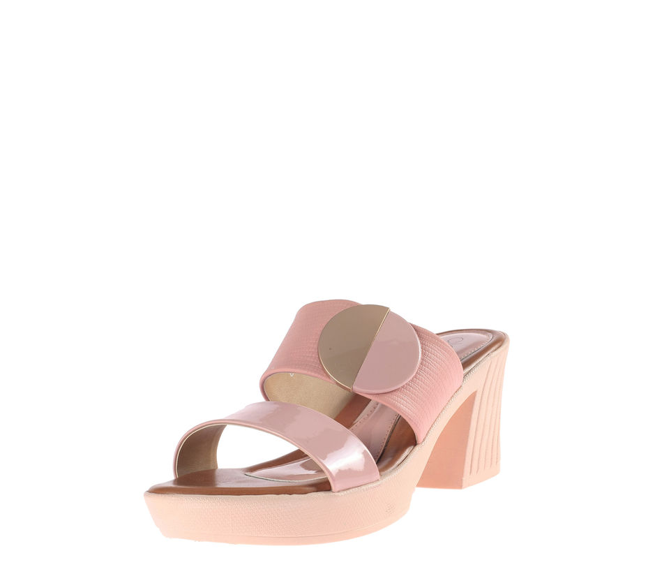 Cleo Pink Casual Heel Sandal