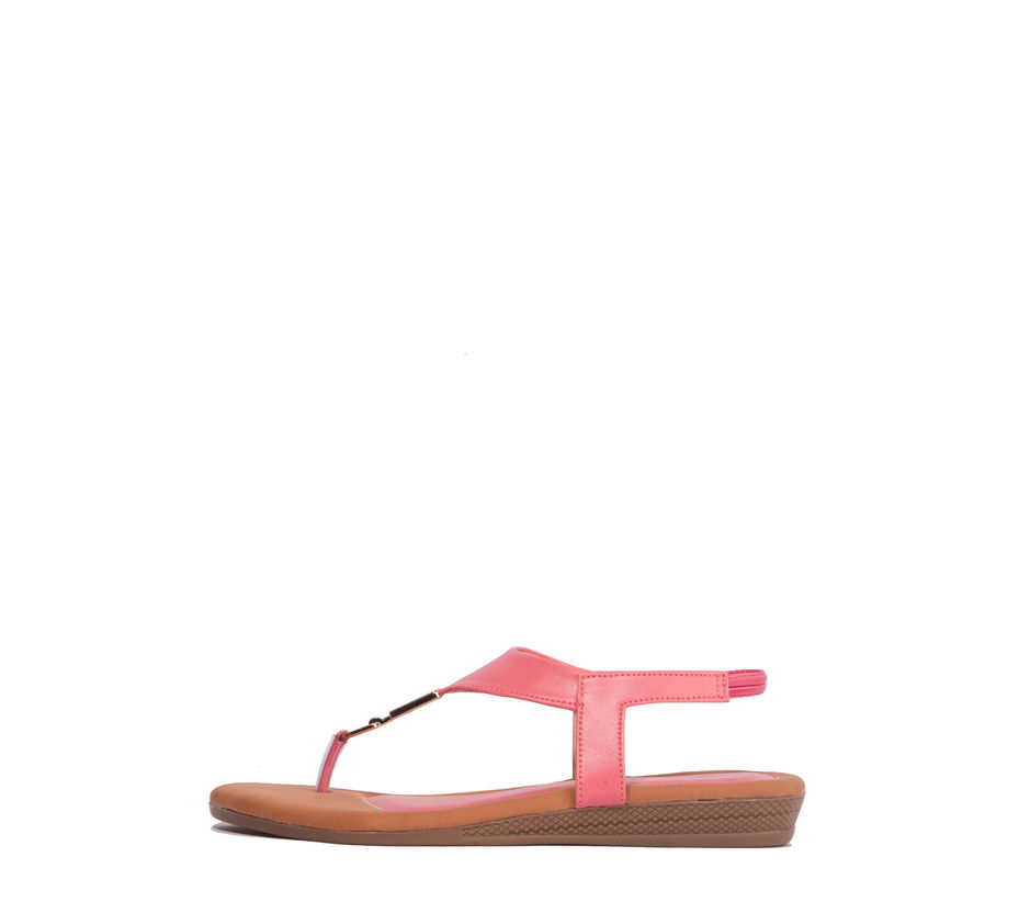 Khadim's Pink Casual Flat Sandal