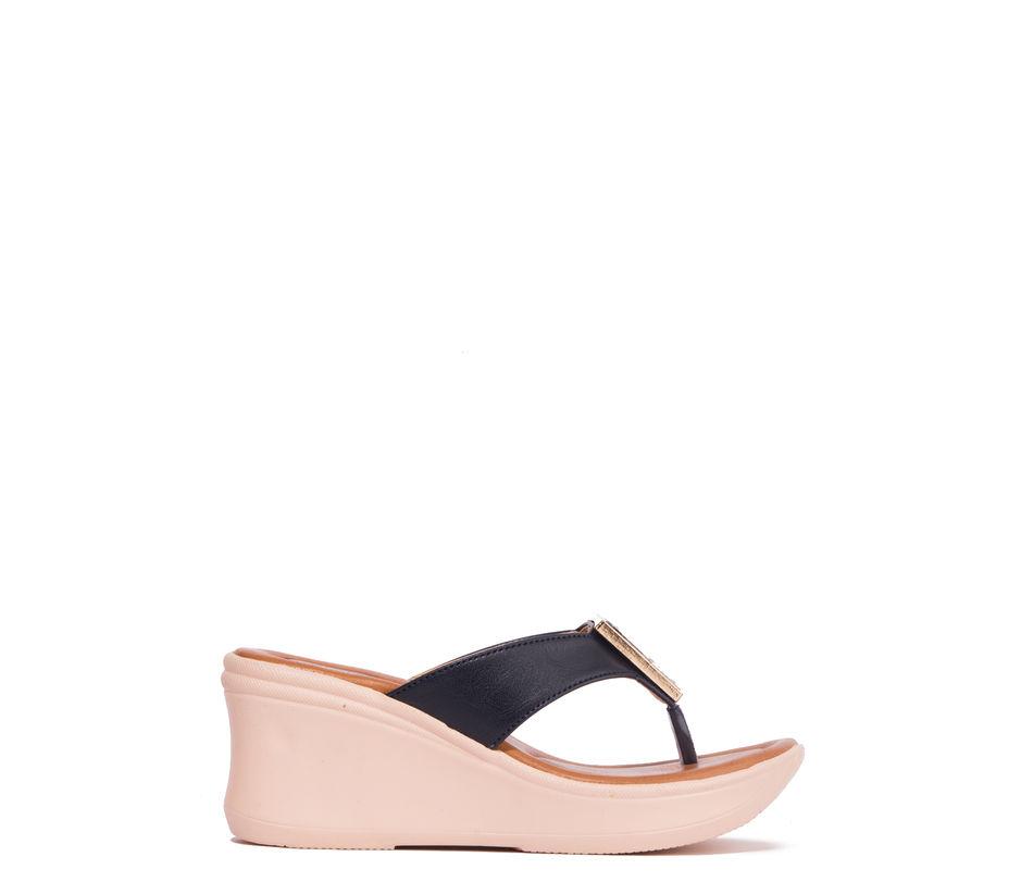 Cleo Black Lifestyle Heel Sandal