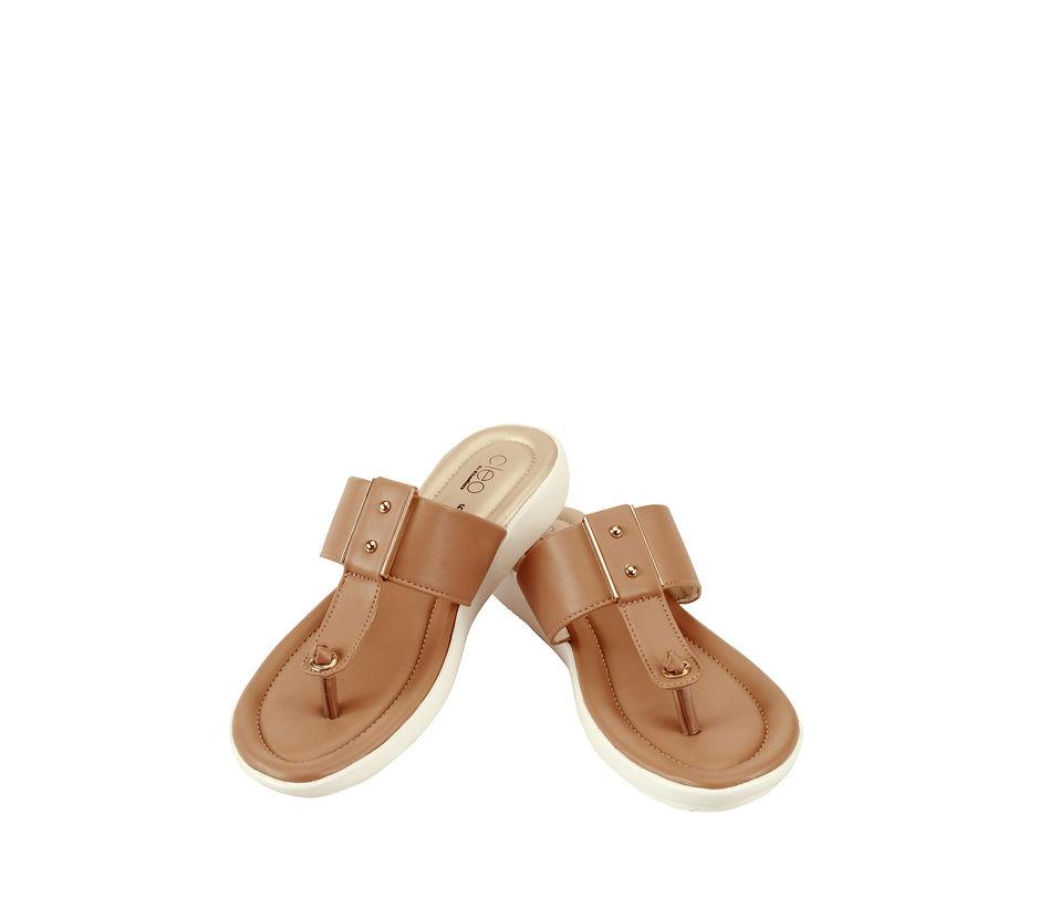 Cleo Brown Casual Flat Sandal