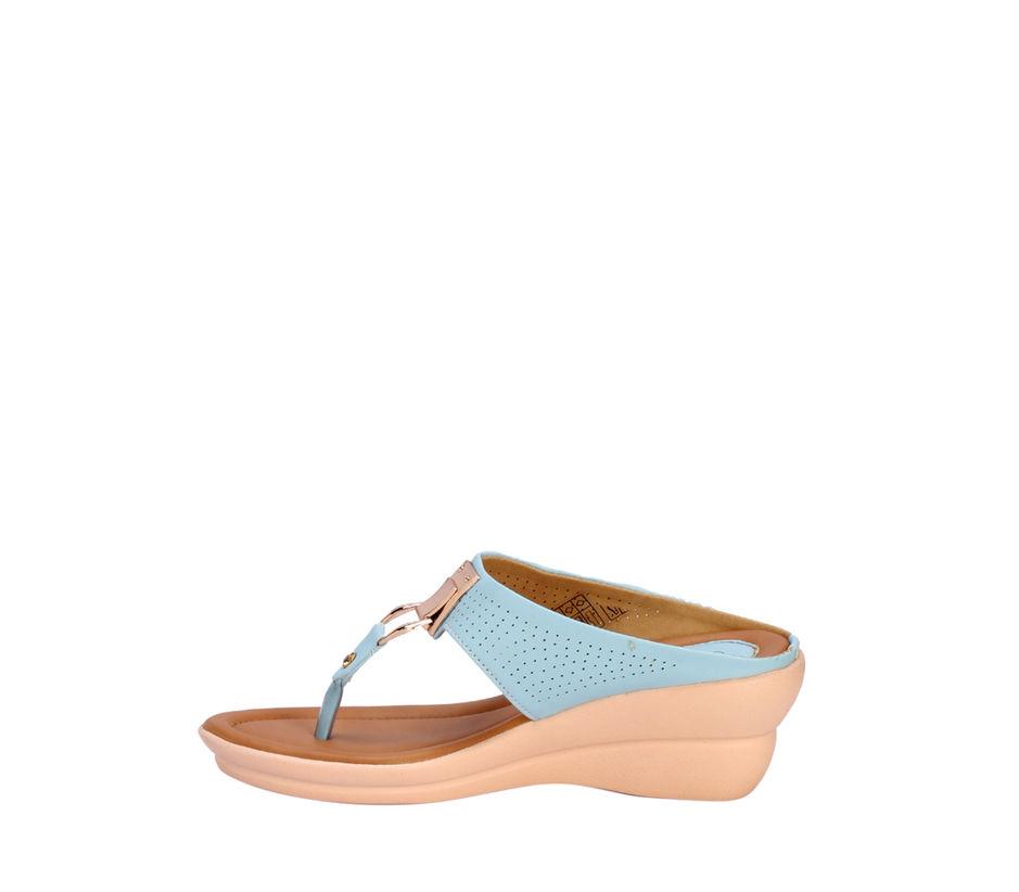 Cleo Blue Casual Heel Sandal