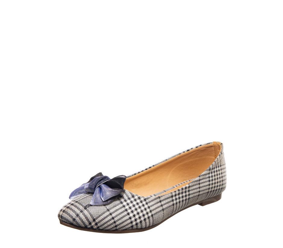 Cleo Black Casual Ballerina Shoe