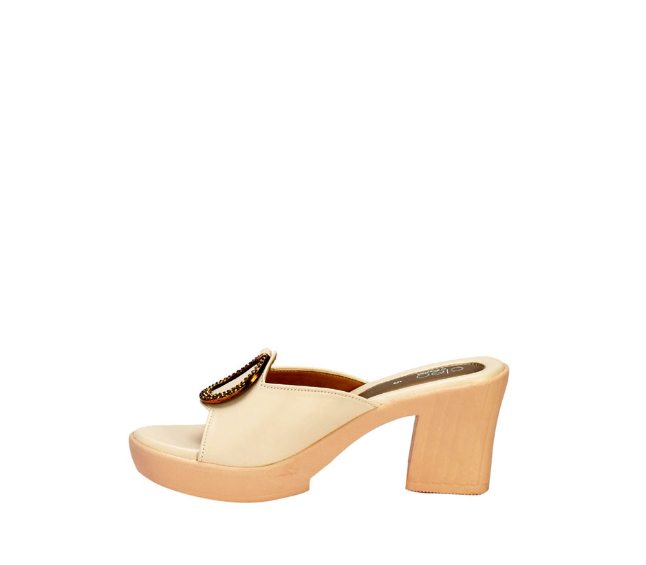 Cleo White Casual Mule Sandal