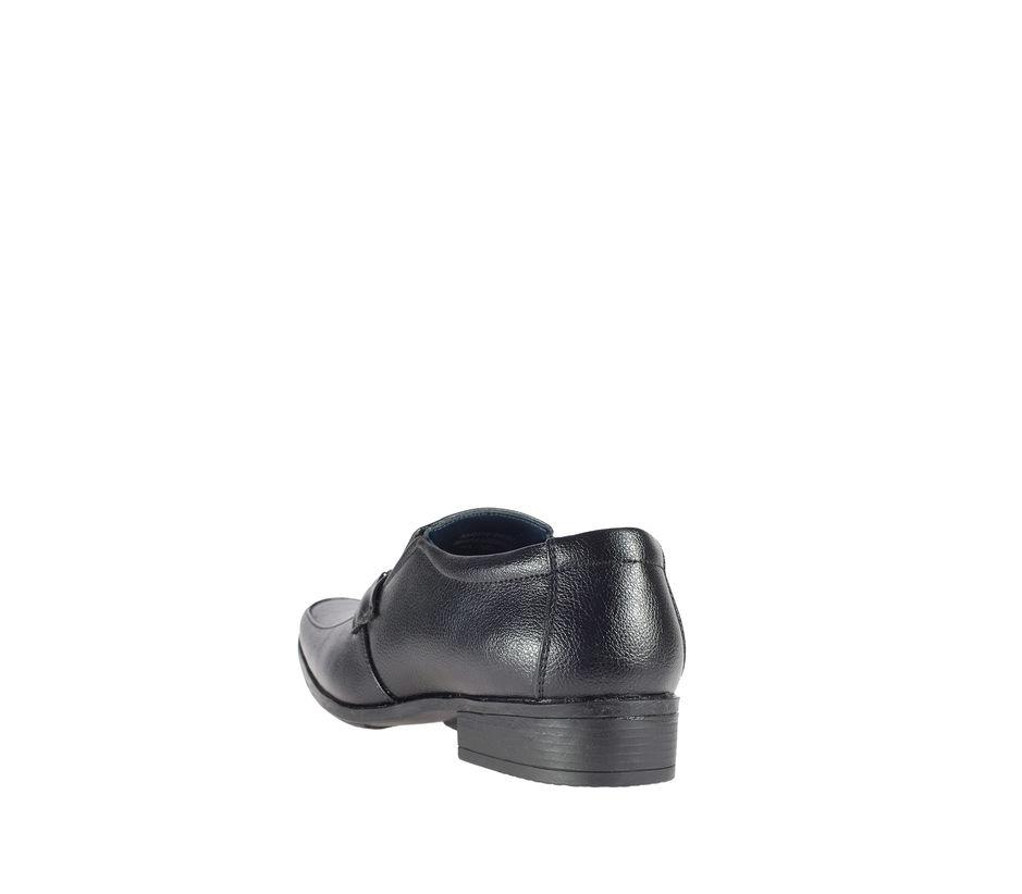 Khadim's Black Semi-Formal Slip-On Shoe