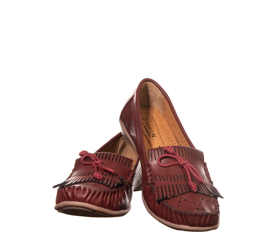 Sharon Maroon Casual Loafer Shoe