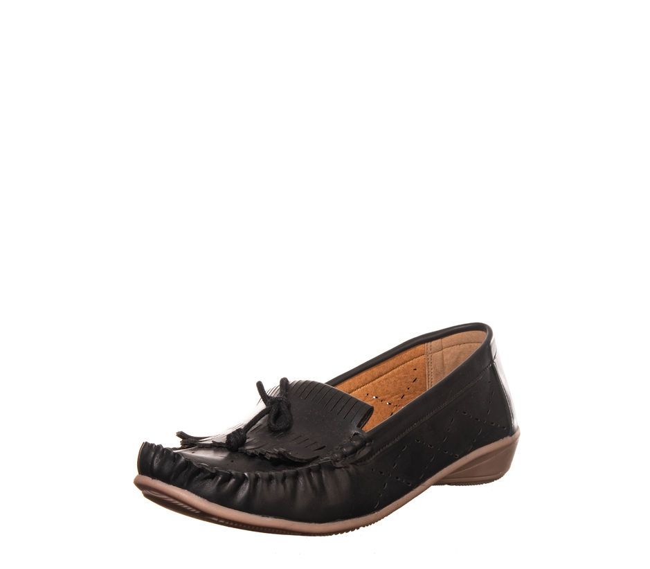 Sharon Black Casual Loafer Shoe