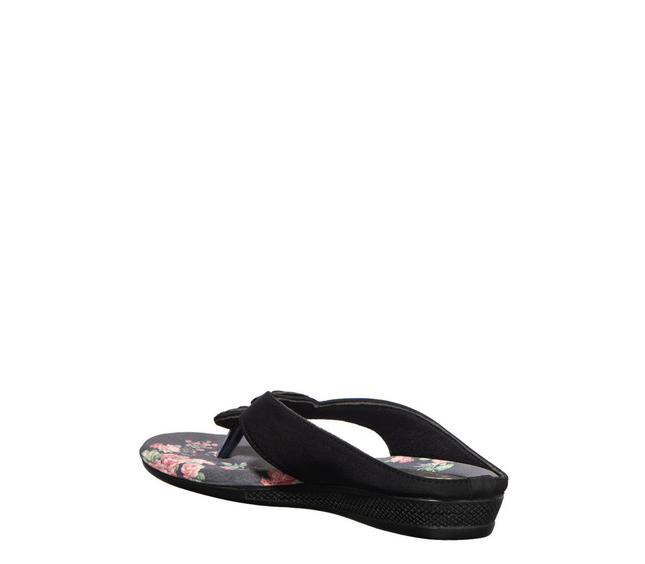 Khadim's Black Casual Slip-On Sandal