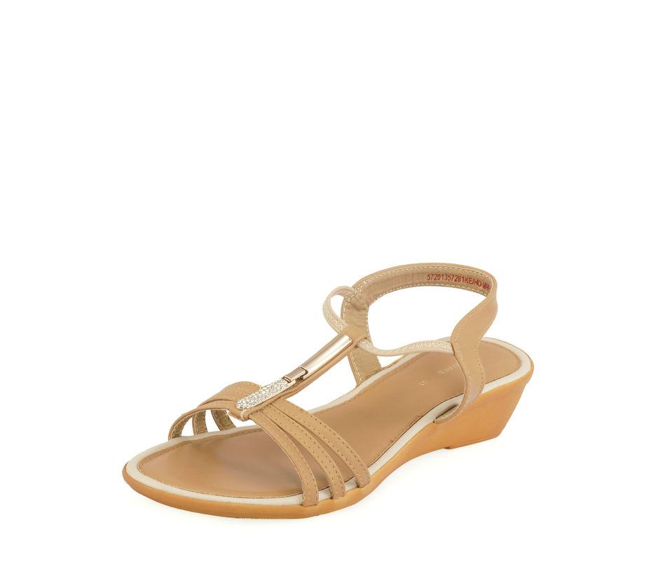 Khadim's Beige Casual Strap-On Sandal