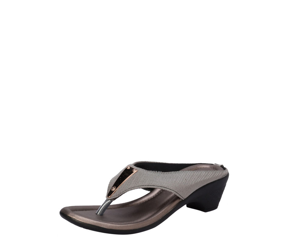 Khadim's Grey Casual Heel Sandal