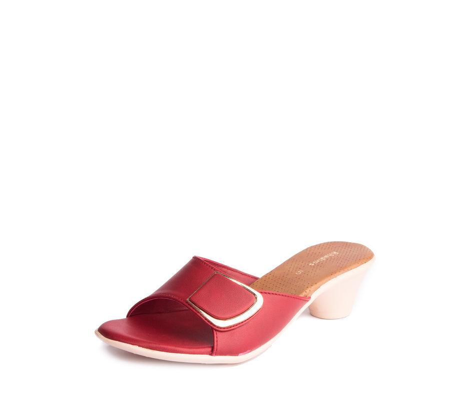 Khadim's Women Red Casual Mule Sandal