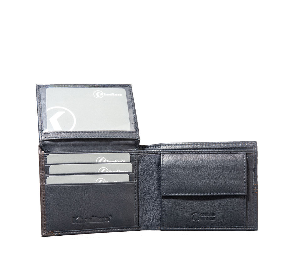 Khadim's Men Black Bi-fold Wallet