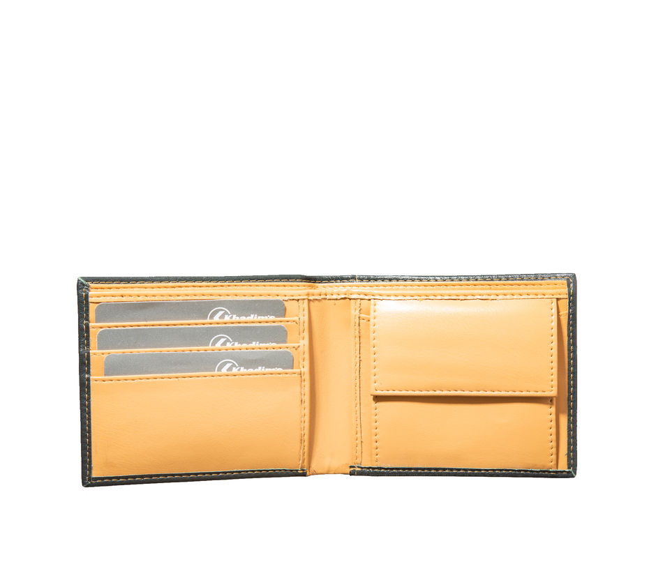 Khadim's Men Olive Single-fold Wallet