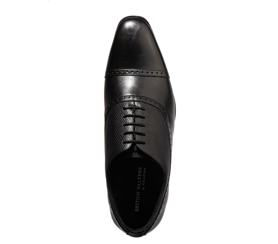 British Walkers Men Black Formal Oxford Shoe