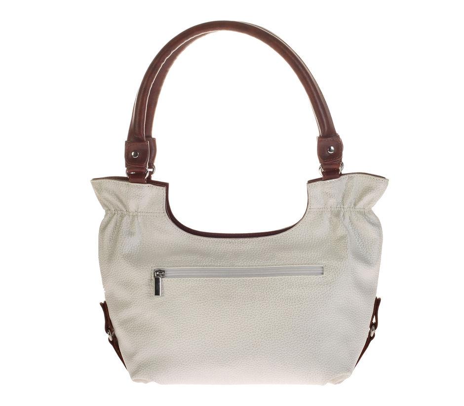 Khadim's White Hobo Handbag