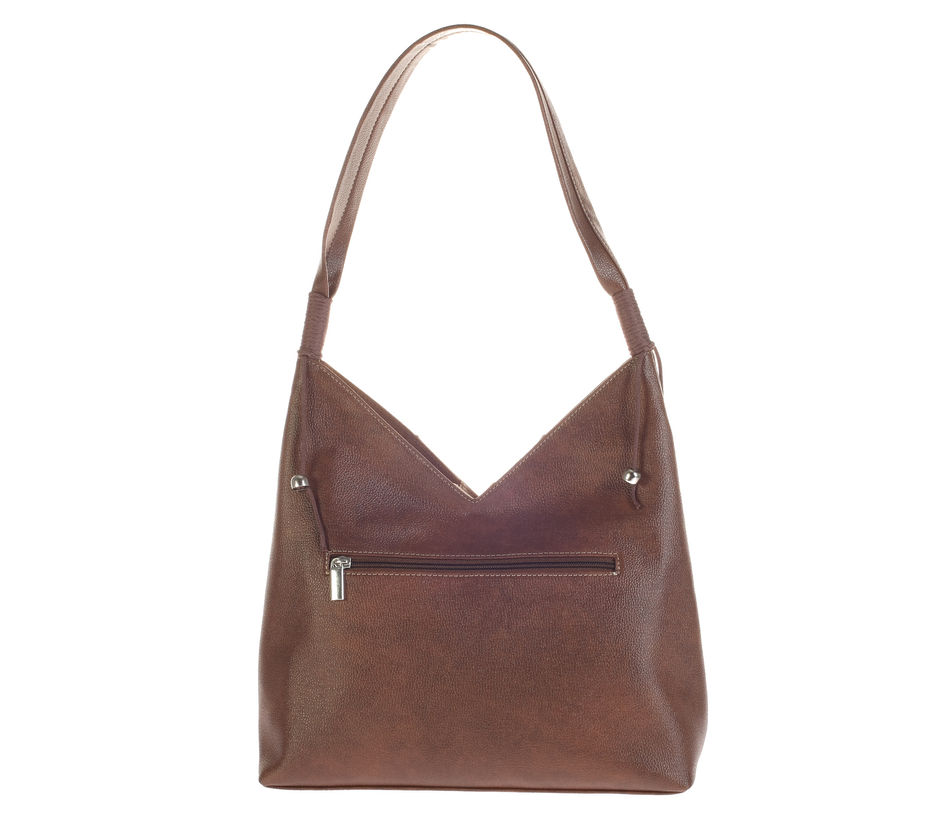 Khadim's Brown Hobo Shoulder Bag