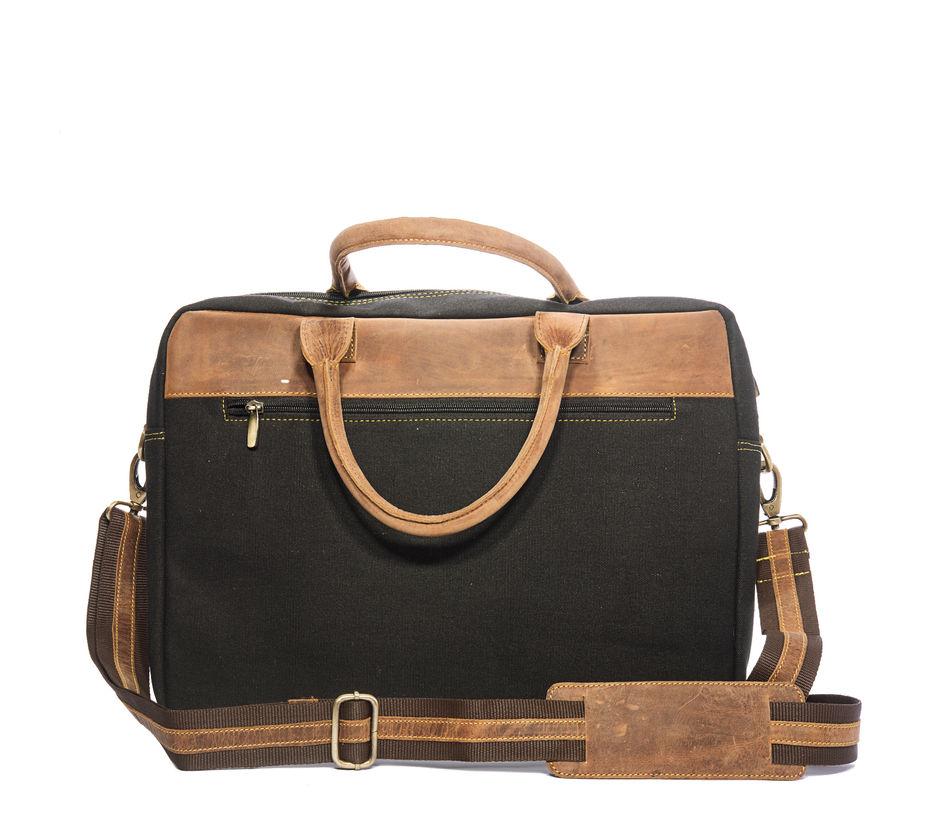 Khadim Men Black Laptop Bag