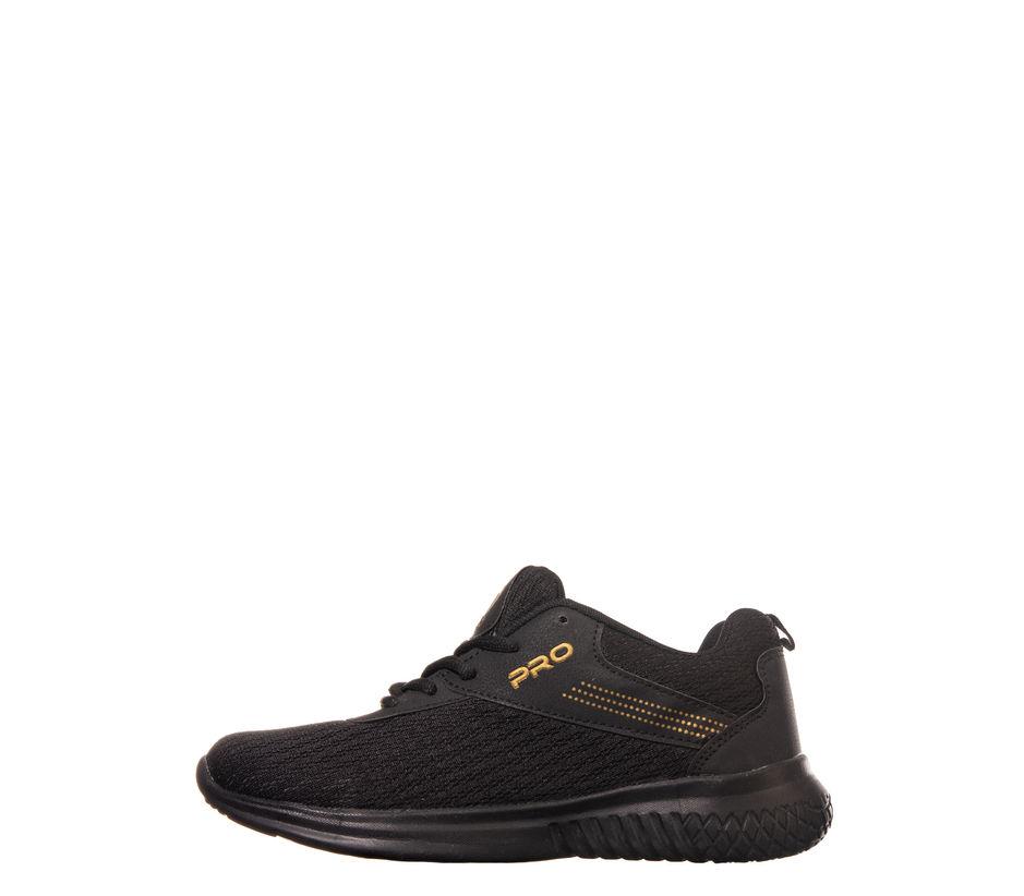 Pro Black Casual Dress Sneakers