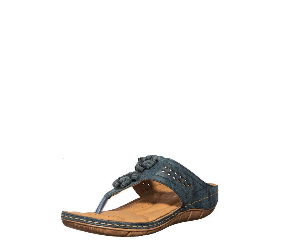 Softouch Navy Casual Slip-On Sandal