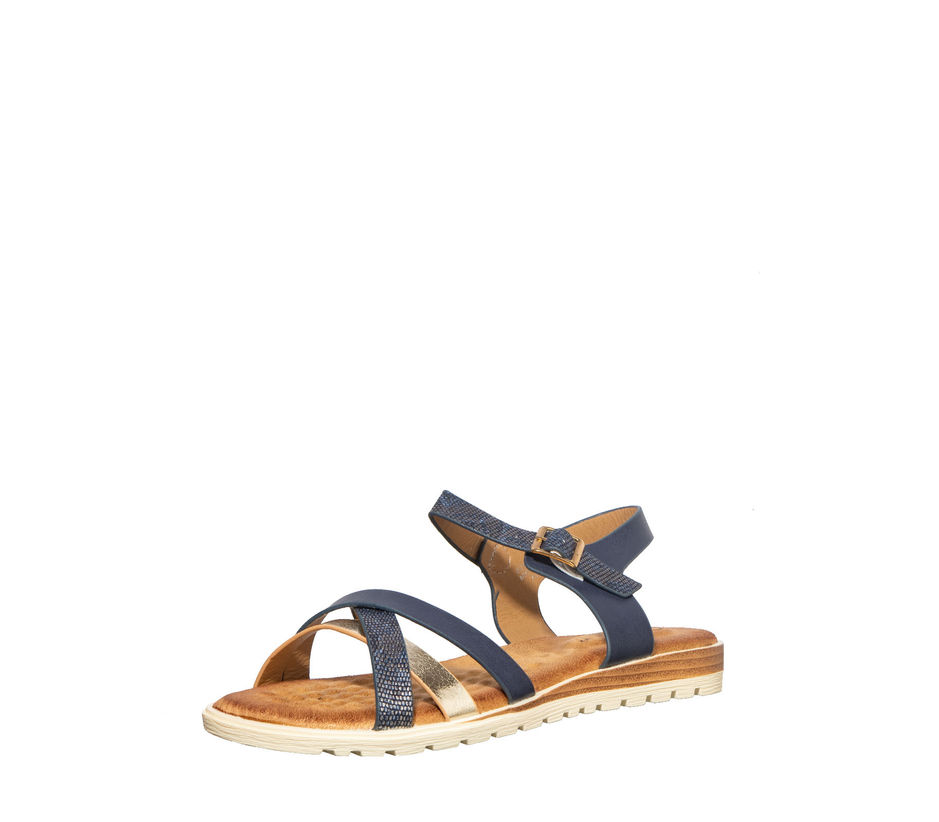Cleo Navy Casual Strap-On Sandal