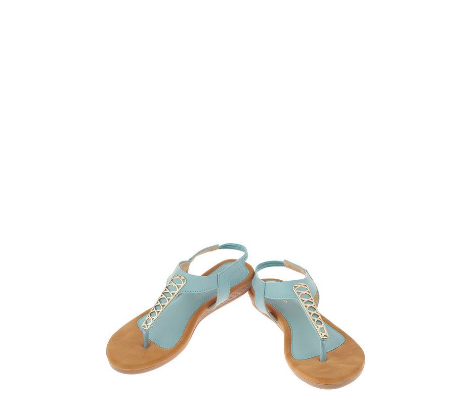 Khadim's Blue Casual Flat Sandal
