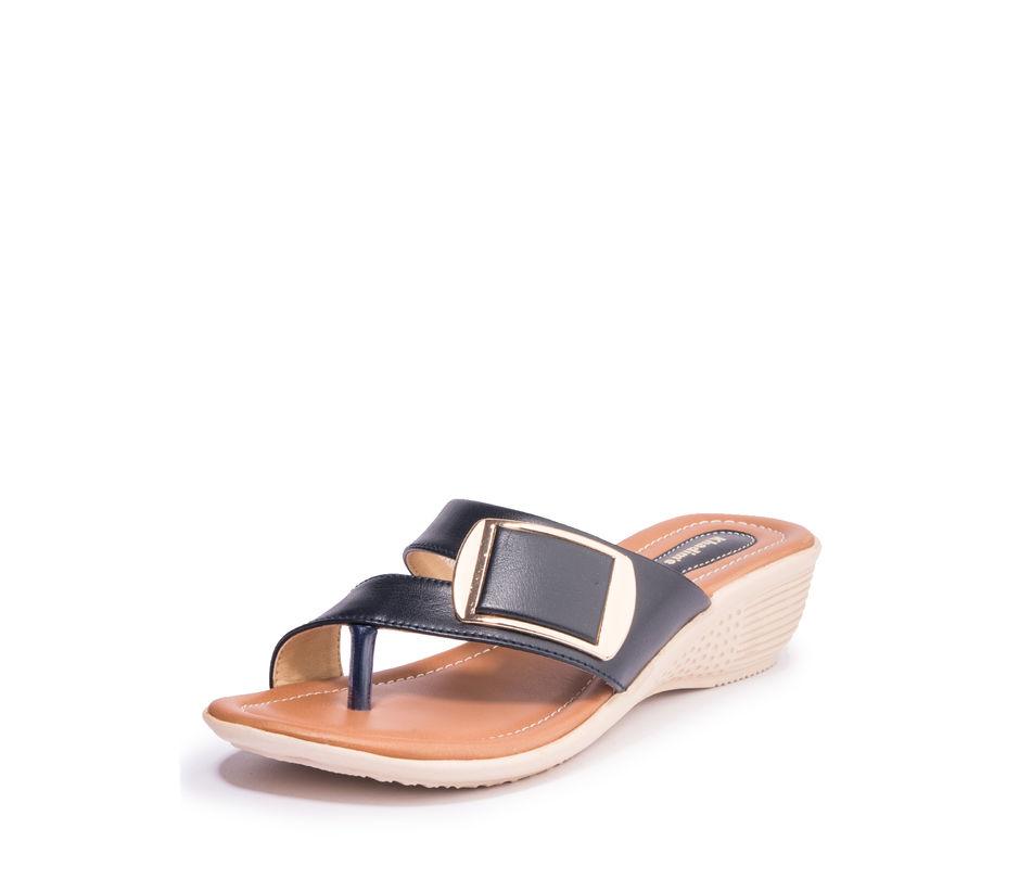 Khadim's Women Navy Casual Heel Sandal
