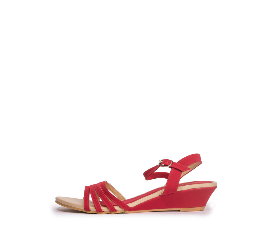 Khadim's Women Red Casual Heel Sandal