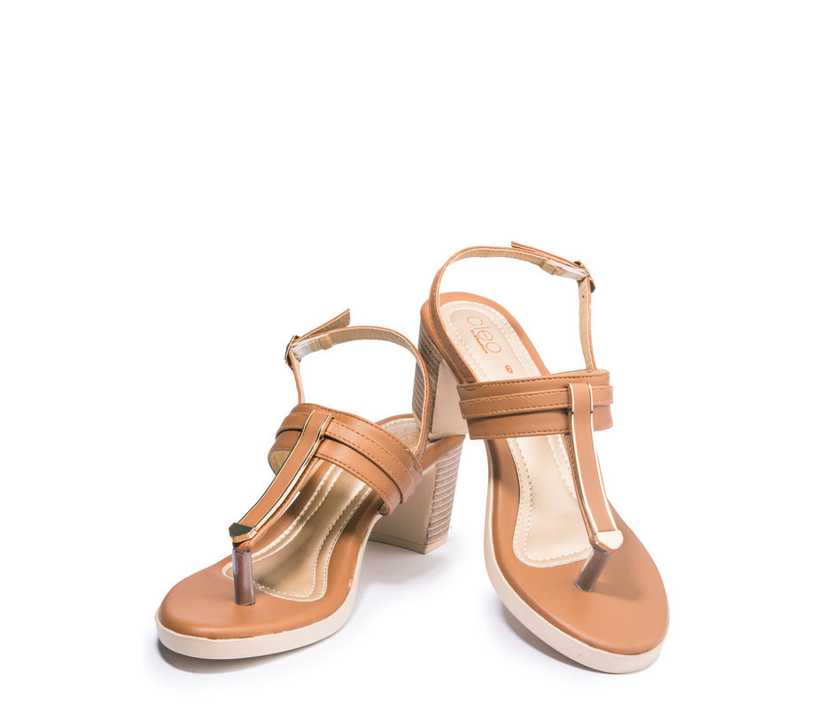 Khadim's Cleo Women Brown Casual Heel Sandal