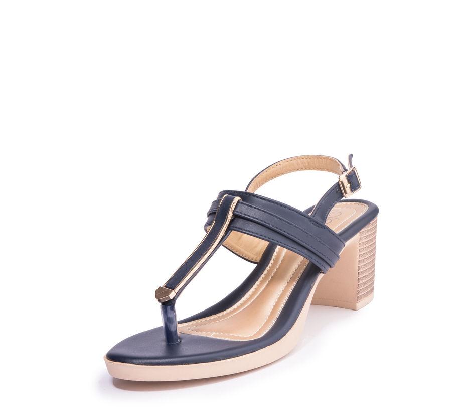 Khadim's Cleo Women Navy Casual Heel Sandal