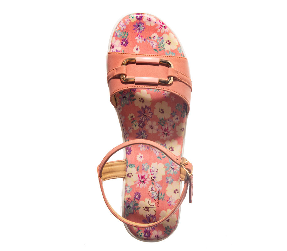 Cleo Peach Casual Strap-On Sandal