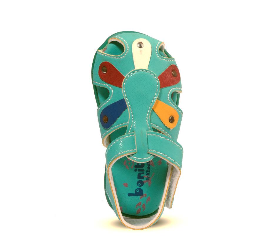 Bonito Green Casual Flat Sandal
