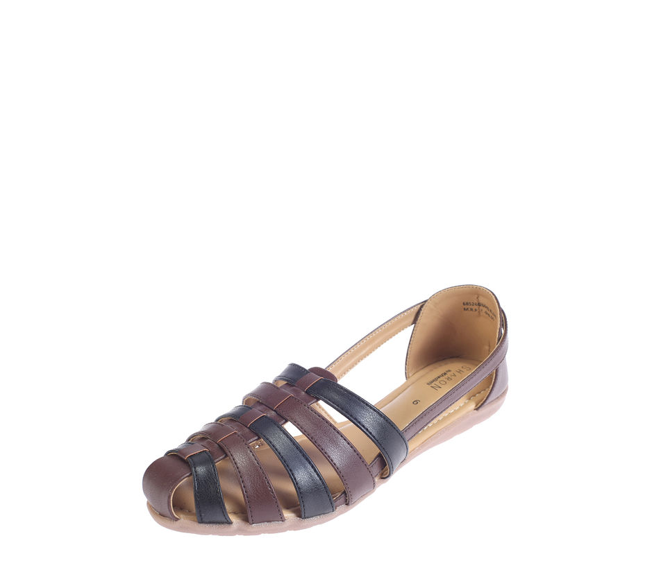 Sharon Brown Casual Flat Sandal