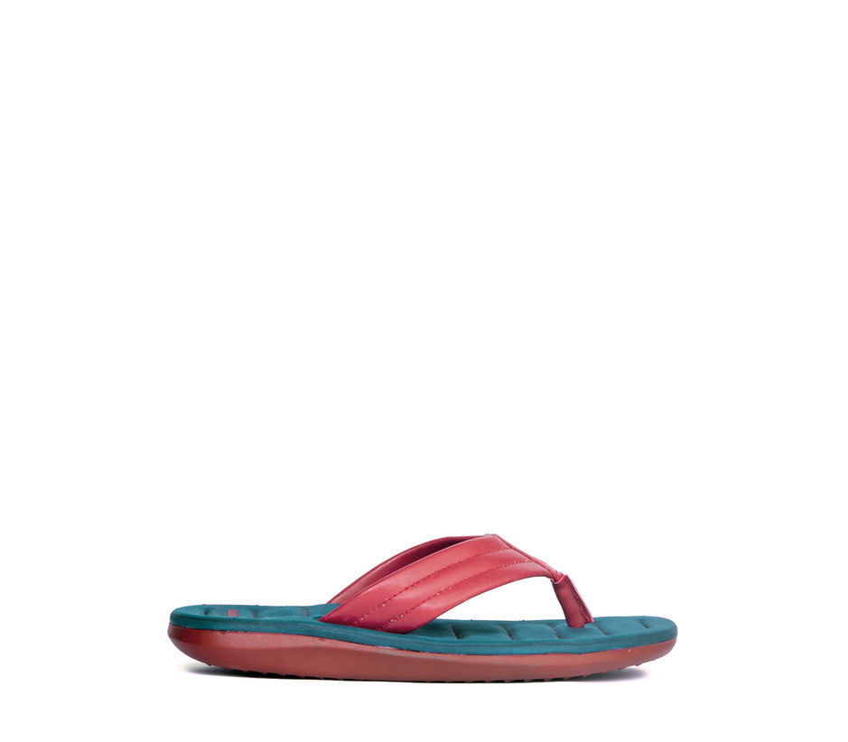 Khadim's Red Casual Outdoor Slipper