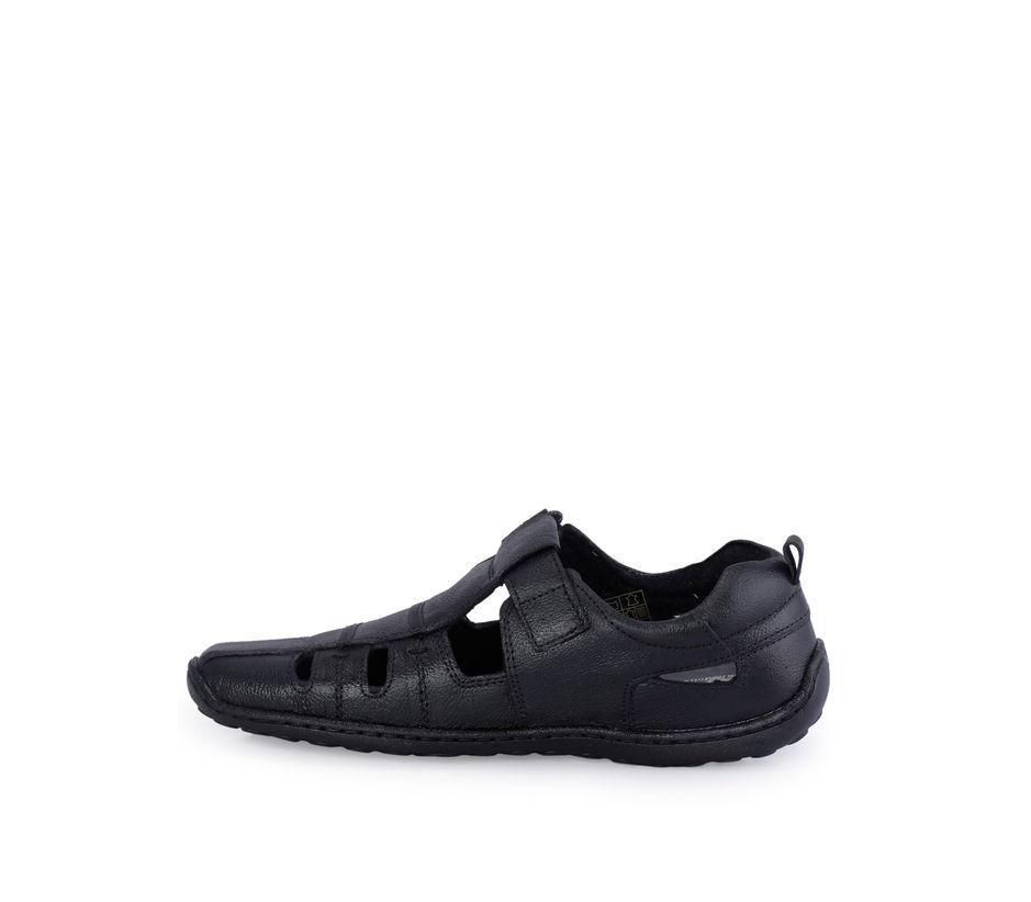Lazard Men Black Casual Strap-On Sandal