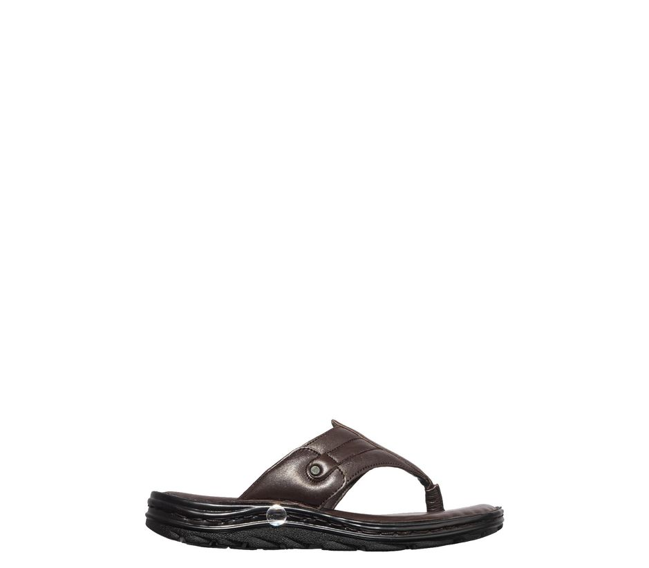 British Walkers Men Brown Casual Slip-On Sandal