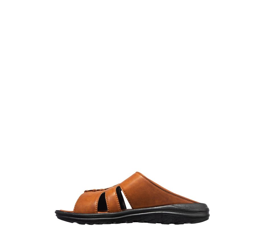 Khadim's Brown Casual Mule Sandal