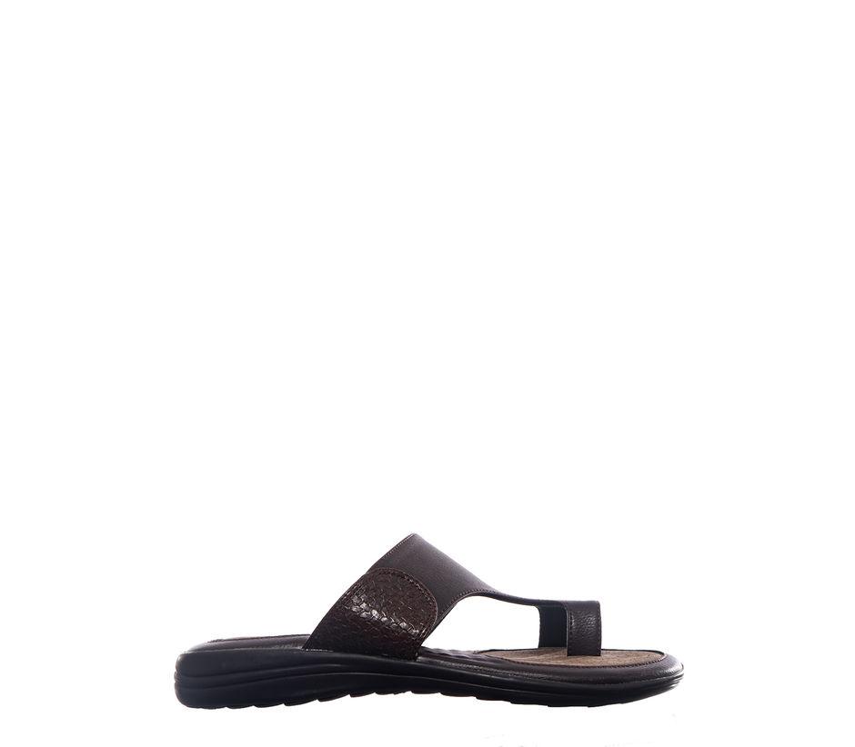 Khadim's Lazard Men Brown Casual Slip-On Sandal