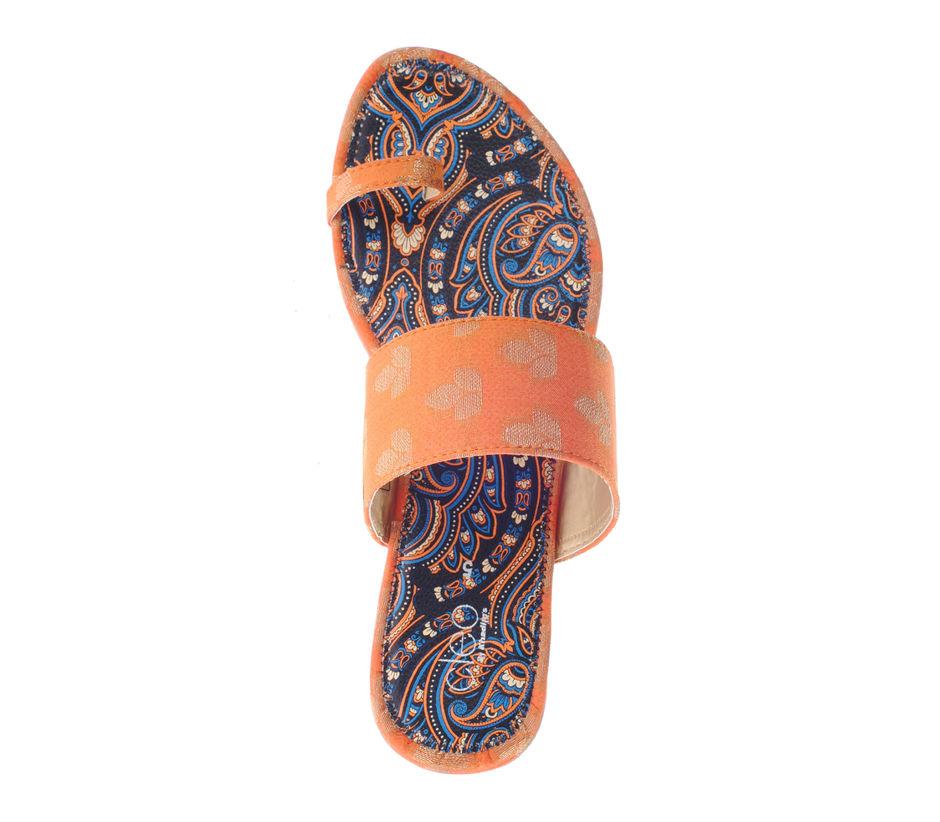 Khadim's Cleo Women Orange Ethnic Dress Slipper