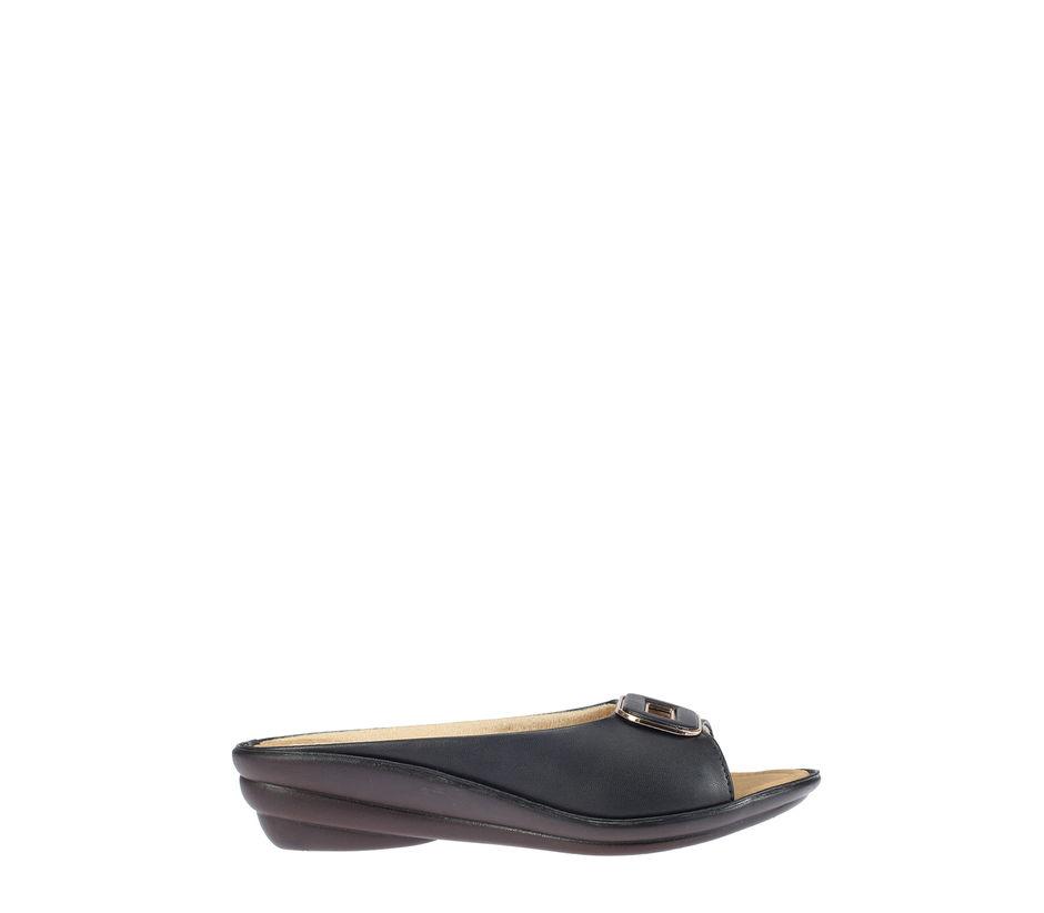 Khadim's Women Black Casual Mule Sandal