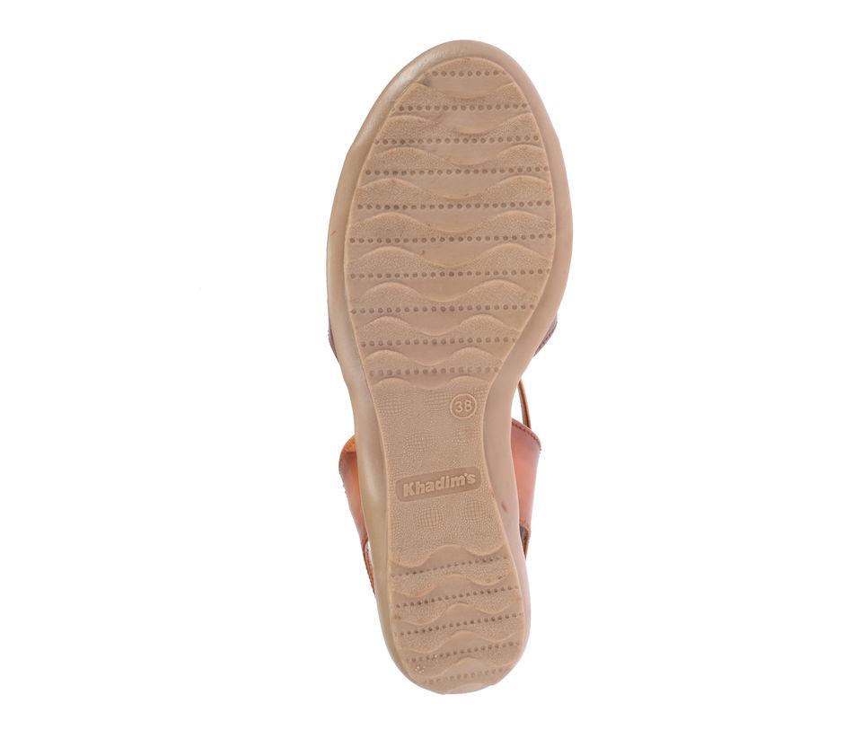 Khadim's Women Brown Casual Flat Sandal