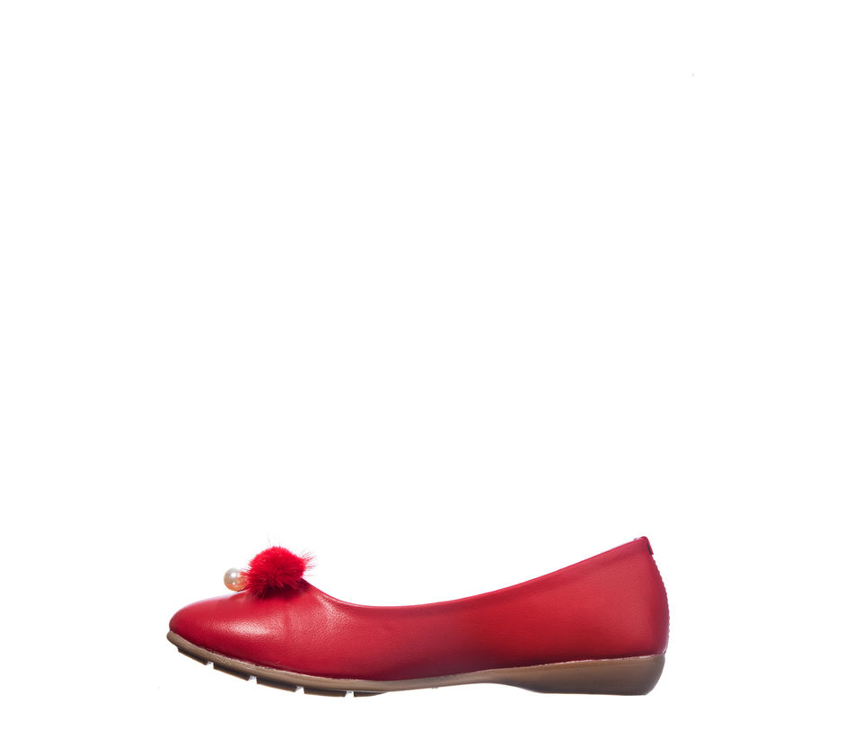 Khadim's Cleo Women Red Casual Ballerina Shoe