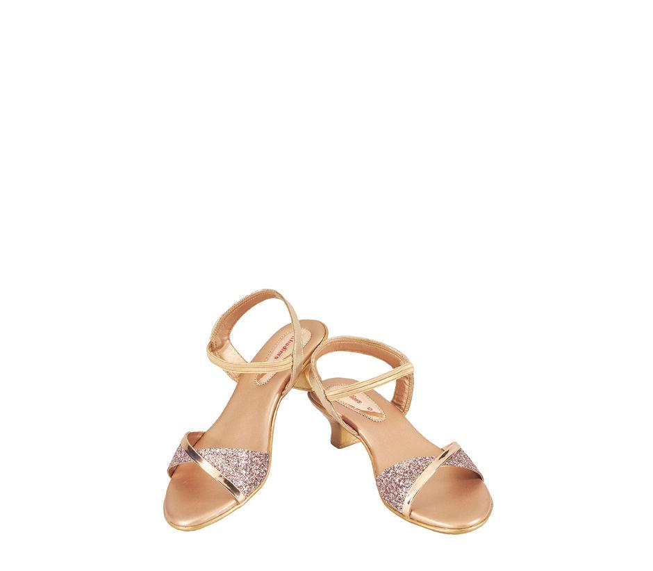 Khadim's Women Gold Lifestyle Strap-On Sandal