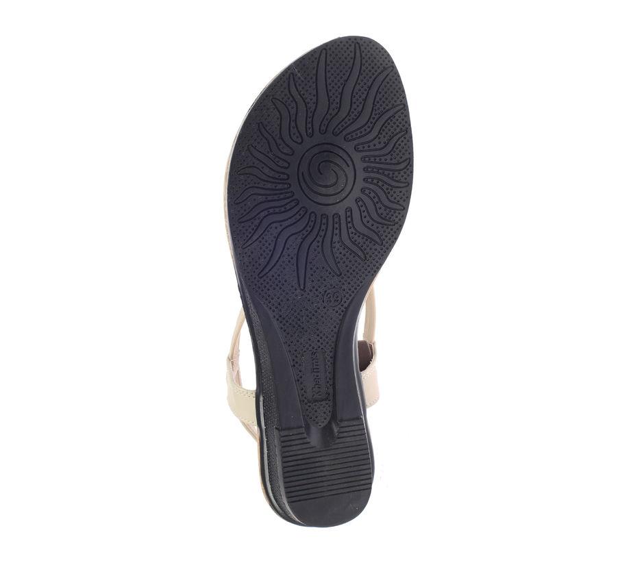 Khadim's Cleo Women Beige Casual Flat Sandal