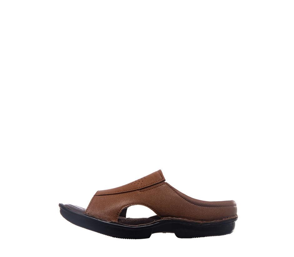 Khadim's Softouch Men Brown Casual Mule Sandal