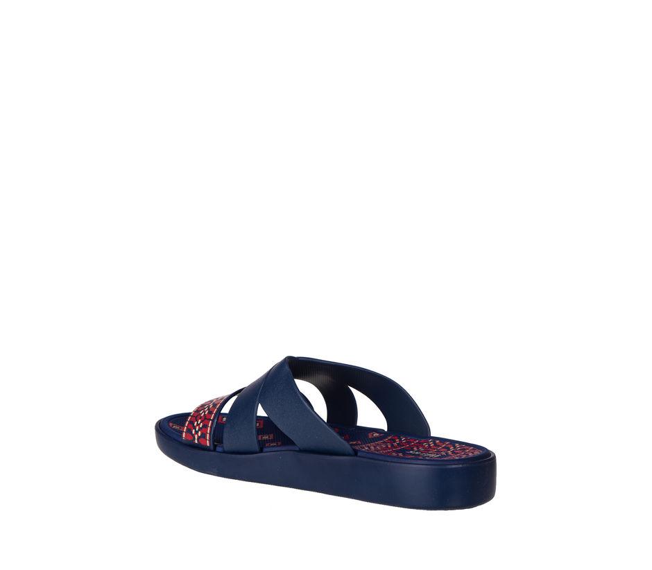 Waves Women Navy Casual Slip-On Sandal