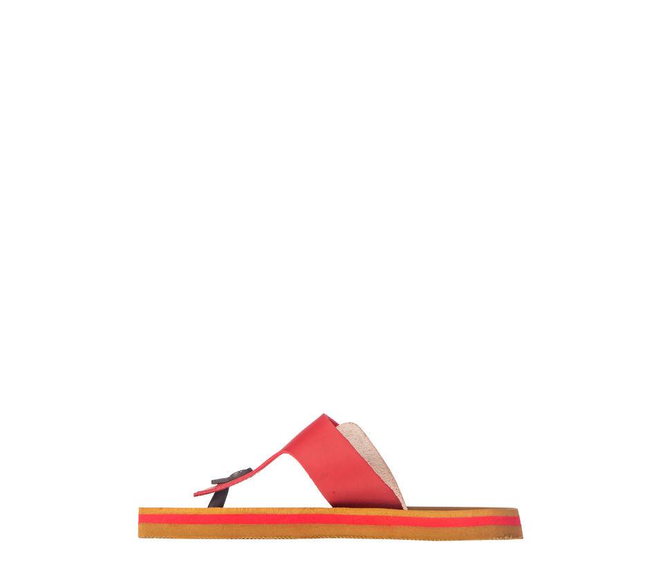 Waves Women Red Casual Slip-On Sandal